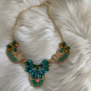 NEW Blue green crystal necklace